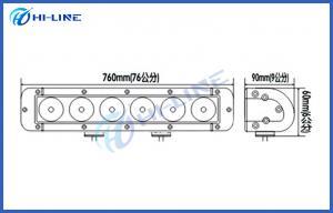 China 9-70V DC 29.3 inch 180W Offroad LED Light Bars Black White Car Head light Roof Lights on sale