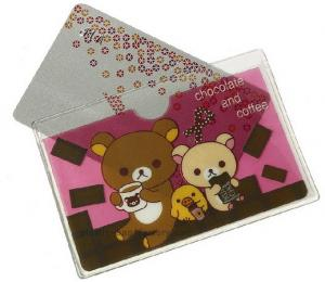 China Customized cute printing transparent PVC plastic card holder / ID card holder on sale
