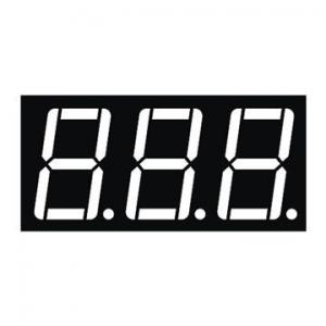 China 0.56 Inch Red Triple Digit 7 Segment Numeric Display Low Current Operation on sale