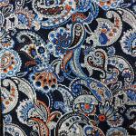 110-115GSM Printed Rayon Fabric High Color Fastness No Deformation 45X45 Yarn Count