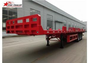 China 60T Platform Semi Trailer Long Cargos 60000 Kgs Max Payload Custom Color on sale