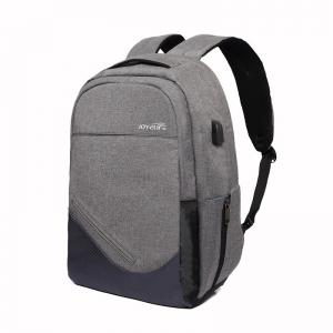 China Laptop backpack for men women, 15.6 inch Anti Theft Laptop Backpack Gray Back Pack on sale