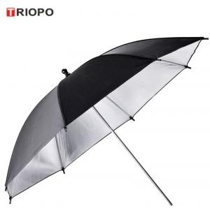 China TRIOPO Professional photographic Equipment photo reflector umbrella with black and sliver on sale