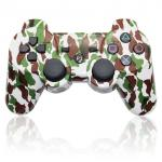 China Dual Vibration Bluetooth Playstation 3 Controller Green Brown Camouflage Color wholesale