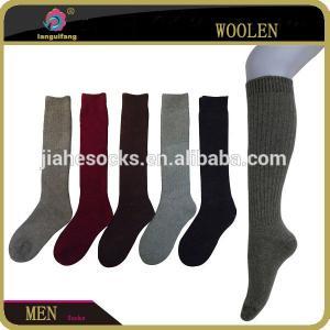 China custom long tube man socks,knee high wool socks for man on sale