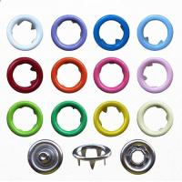 9.5mm Various Colors Ring Snap Button for Babies Wear; Brass Ring Prong Fastener