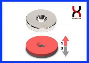 China Round / Square Countersunk Neodymium Magnets With Single / Double Hole on sale