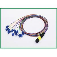 12 Fiber MPO to LC Fiber Optic Patch Cord, Single Mode OS2 Breakout Cable Assembly