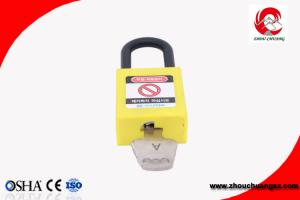 China 2018 cheap 38mm short nylon shackle yellow ABS safety padlocks for electrial industrial on sale