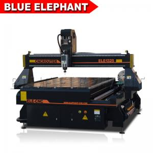 China 1300*2500ft 4 axis cnc router engraver machine , cnc 1325 wood cutting machine with vacuum table t-slot on sale