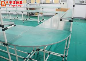 China Anti Static Assembly Line Workstations U Type Powder Coated Flexible Production Lines on sale
