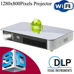 China Wholesale Full HD 3D Android Projector WiFi Wireless With HDMI USB VGA For Party Office on sale