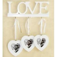 White Love Home Photo Frame Picture Frame Home Decor Triple Heart 3