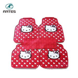 China Left And Right Hand Driving Universal Car Floor Mats Hello Kitty Cartoon Pattern on sale