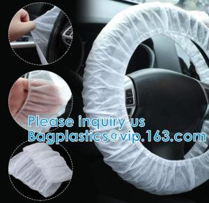 China Disposable Steering Wheel Cover Non-Woven Disposable Wheel Cover Anti-Slip Car Steering Wheel Cover Universal Breathable on sale