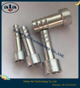 China #6 #8 #10 #12 Goodyear R134a Air Conditioning Hose Aluminum Fittings, Aluminum Tails Fittings. on sale