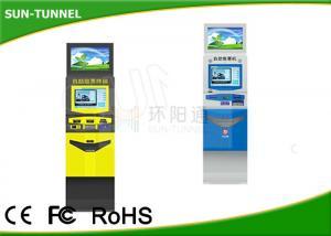 China 1.5mm Steel Case Prepaid Mastercard Kiosk ATM Machine , Grocery Store Kiosk Dual Screen on sale