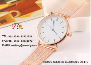 China Simple Clean Design Wrist Watch With Alloy Case, alloy Strap For ladies on sale