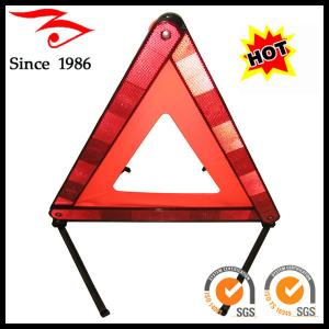 China car accessory, red safety reflective warning triangle for emergency on sale