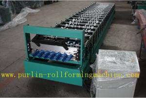 China Trapezoidal Roof Panel Roof Tile Roof Sheet Cold Roll Forming Machine For Construction Material PLC Automated Control on sale
