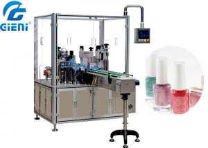 China Automatic Liquid Nail Polish Filling Equipment PLC And Touch Screen Control on sale
