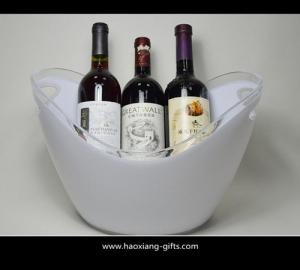 China 4L or 8L colorful printed  plastic ice bucket for beer with handle wholesale on sale