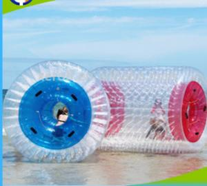 China PVC 1.0mm Inflatable Water Roller , Inflatable Rolling Ball For Adults / Kids on sale