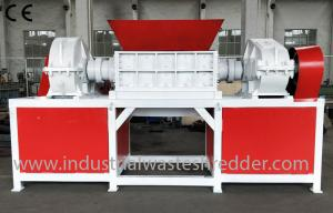 China Industrial Waste Wood Pallet Shredder 45 KW With Magnetic Separation System on sale