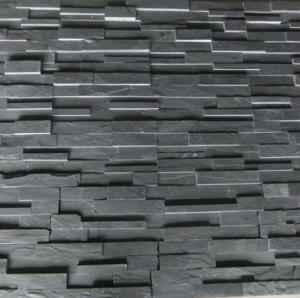 China natural stone black slate for wall cladding on sale