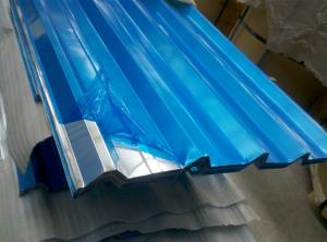 China 2200mm Max Width Corrugated Aluminum Sheets with Mill and Stucco Embossed Finish on sale