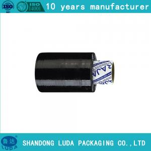 China Mini Black Stretch Film Roll Handy Grip Handle Stretch Wrap on sale