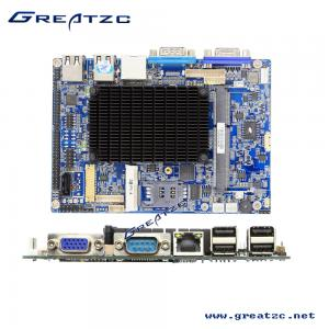 China 6 COM Industrial Fanless PC Motherboard Dual Core Atom N2600 CPU TDP 3.5W DC12V on sale