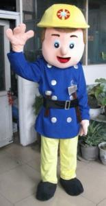 Quality handmade popular cartoon character Fireman mascot uniform costumes for sale
