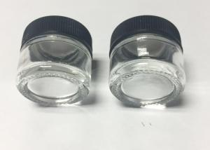 China No Leakage CBD Oil Glass Concentrate Jars Clear Color 5ml Capacity on sale