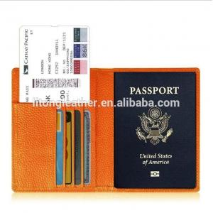 China Wholesale men leather passport cover RFID leather passport card holder on sale