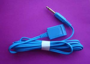 China Tens Electrode Lead Wire With 6.3mm Plug For Grounding Pad, Medical Cable, 3m Length Electrode Lead Wire on sale