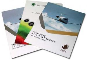 China Hot Stamped Two Pocket  Standard A4 Company Paper Presentation Folder on sale