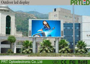 China Outdoor Advertising P10  LED Display Screen made with 1R1G1B  modules 32*16 dots on sale