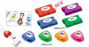 China Now design ABS Cable Organizer with you logo in various colours as promotional products with technology hot sell in US on sale