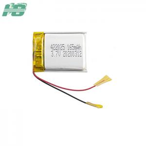 China ROHS 422025 Lithium Polymer Battery 165mAh 3.7 Volt Li Poly Battery Pack on sale