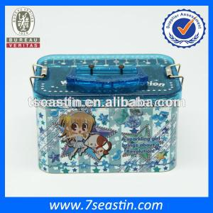 China gift metal tin boxes plastic lid from china on sale