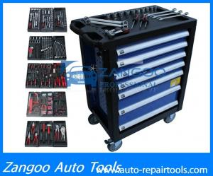China High Performance Wheeled Rolling Tool Box  With Full Tools Durable Tool Storage Chest on sale
