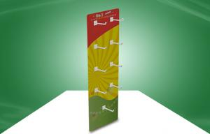 China Customize Recyclable Cardboard Sidekick Display Wall Hanger With Hooks For Gifs on sale