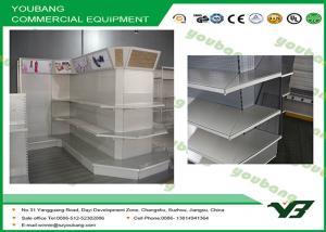 China PET Shelf With Lightbox Supermarket Display Shelving , retail gondola shelving on sale