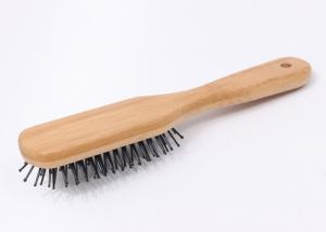 China Adult Anti Static Bamboo Hair Brush Handmade Nylon Bristle Hair Brush on sale