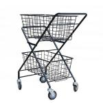 Two Layers H950mm W600mm Sports Equipment Storage Rack ,Tennis Ball Trolley Foldable