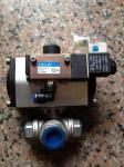 Penumatic Actuator1 Inch Stainless Steel 3 Way Ball Valve