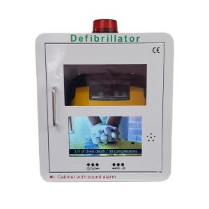 China Metal Frame Wall Mounted Defibrillator With Video Screen And Alarm System on sale