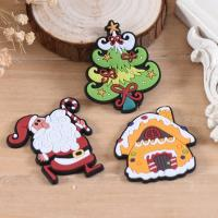 China Wholesale Custom Hook And Loop Backing Christmas Decoration Iron On Patches Best Selling Cheap PVC Patches For Clothes on sale