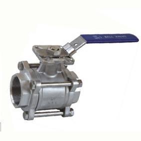 China válvula de bola 3pc com a almofada de montagem ISO5211, válvula de bola de aço inoxidável on sale
